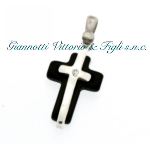 Croce in Argento 925/ooo e Onice Nera