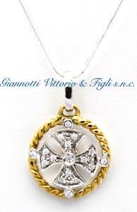 Ciondolo uomo BR2929/3 in Oro Bianco e Giallo